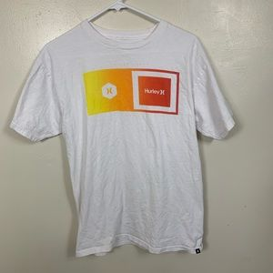 HURLEY ORANGE RED GRAPHIC T SHIRT SIZE MEDIUM